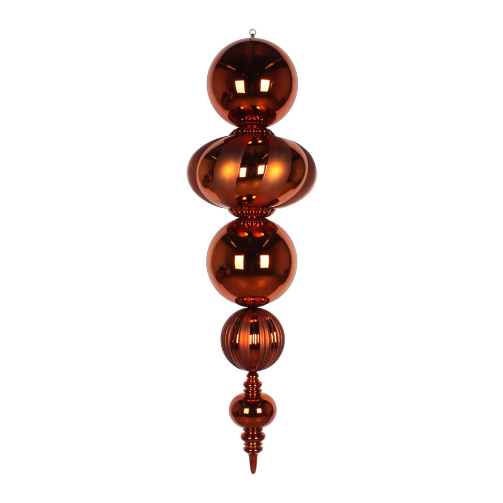 54 Inch Plastic Shatterproof Copper Shiny Matte Finish Finial