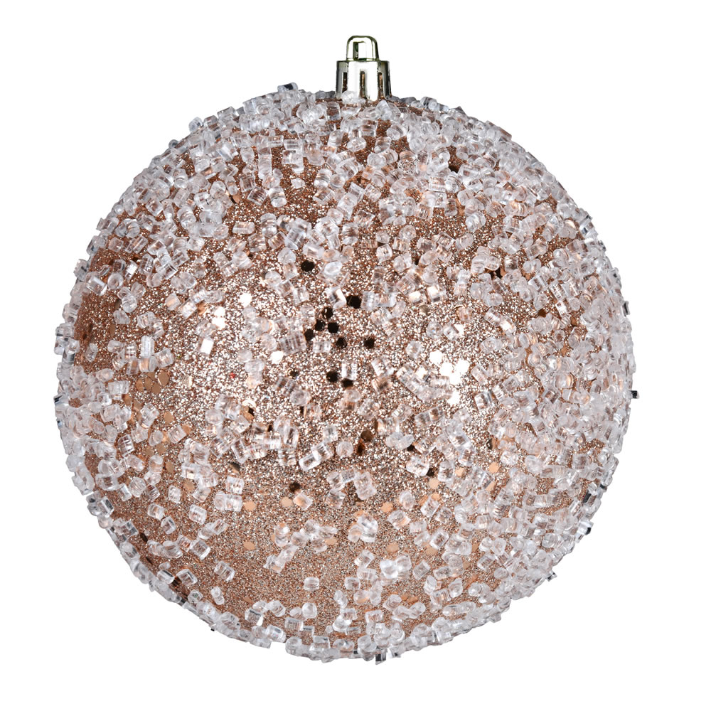 10 Inch Cafe Latte Glitter Hail Christmas Ball Ornament