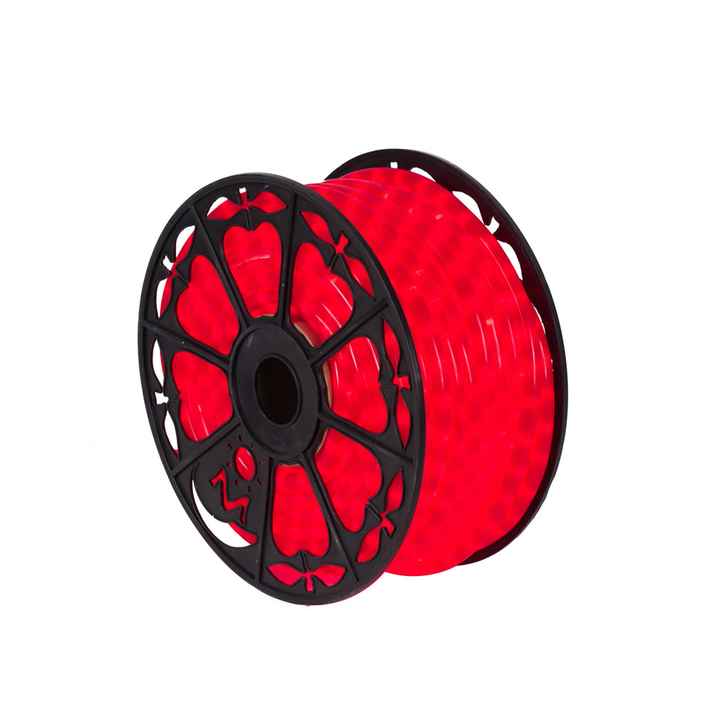 150 Foot x 0.5 Inch Fluorescent Red LED Rope Light