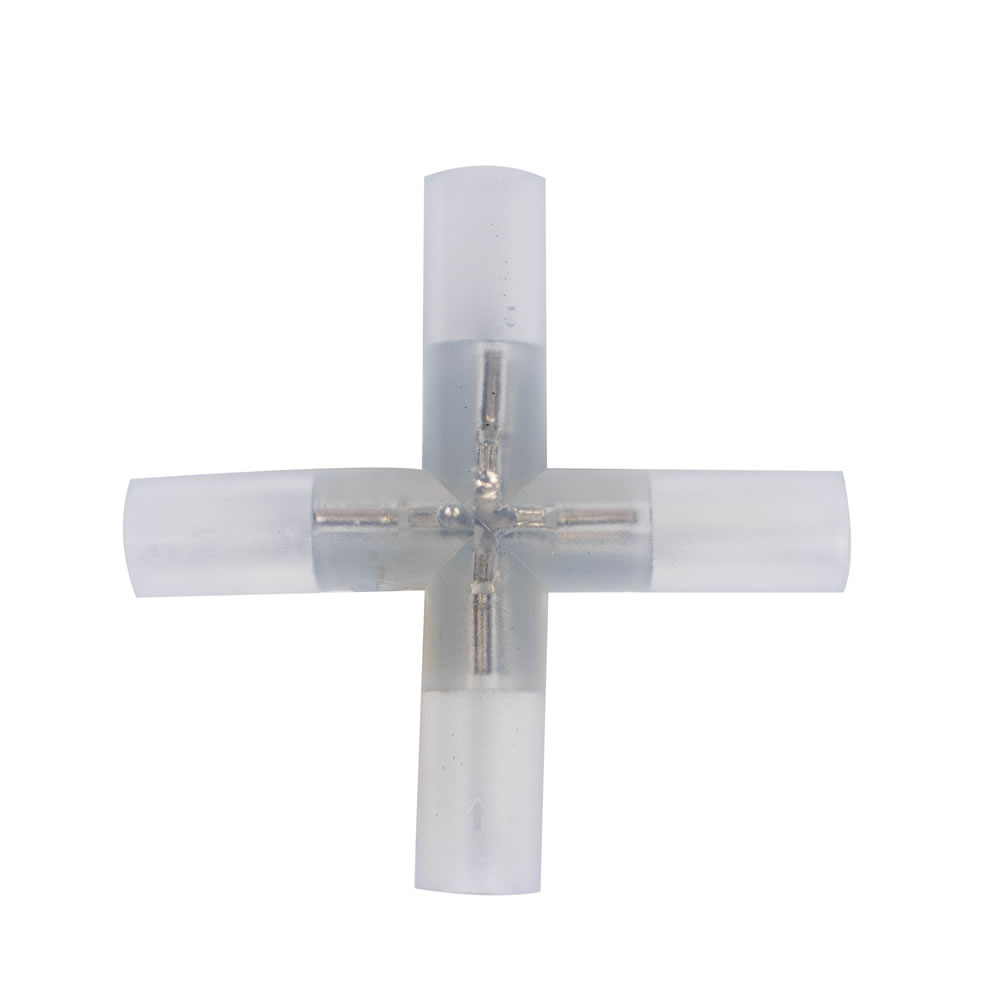 0.5 Inch Rope Light  Cross Connector 6 per Bag