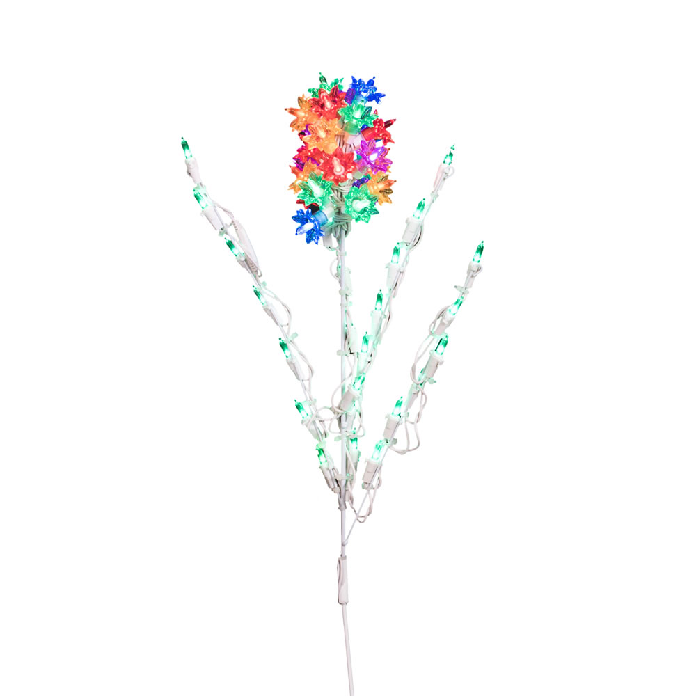 Multi LED Hyacinth Flower with 50 Multi Color Lights