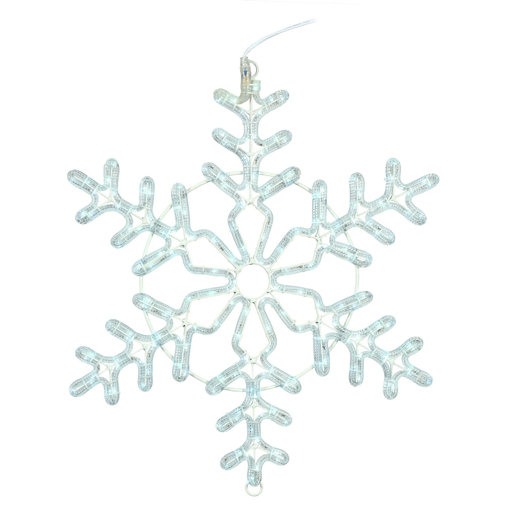 48 Inch LED Ropelight Pure White Forked Snowflake Lighted Christmas Decoration