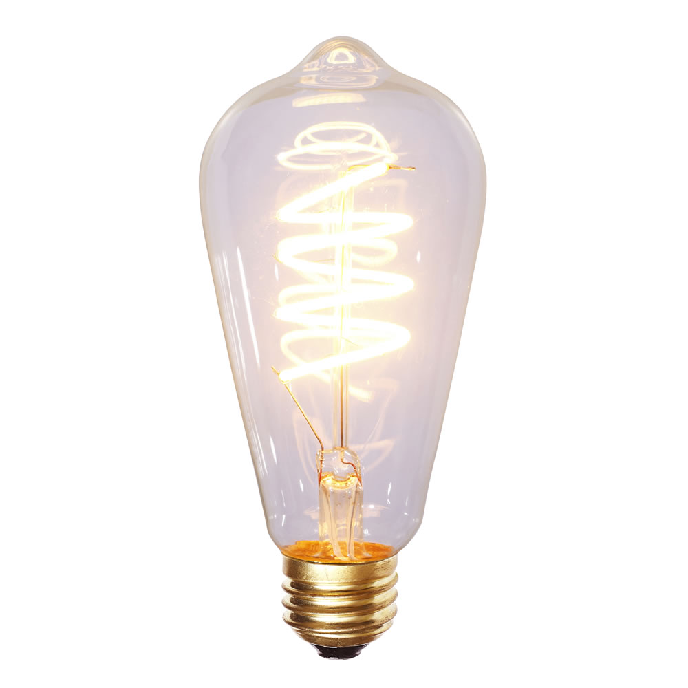 ST64 WARM WHITE LED FILAMENT E26 BULB