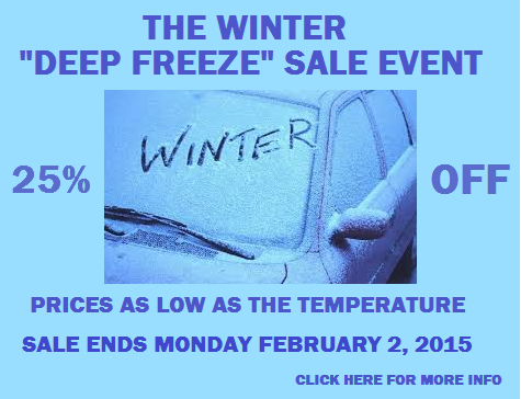 Winter Deep Freeze Sale