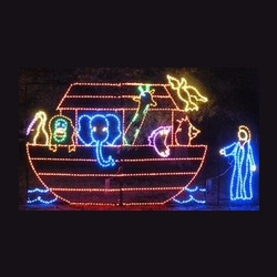 Noah and the Arc LED Lighted Outdoor Commercial Christmas Decoration