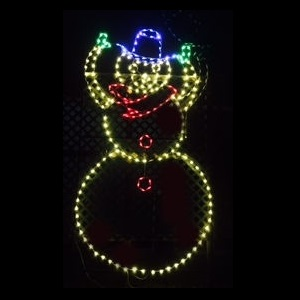 Snowman Tipping Hat Animated LED Lighted Outdoor Commercial Christmas Decoration