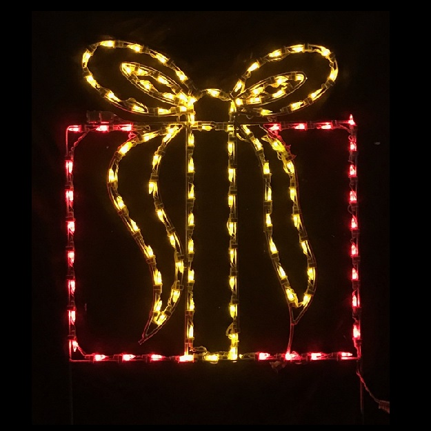 christmas gift box led lighted outdoor christmas decoration