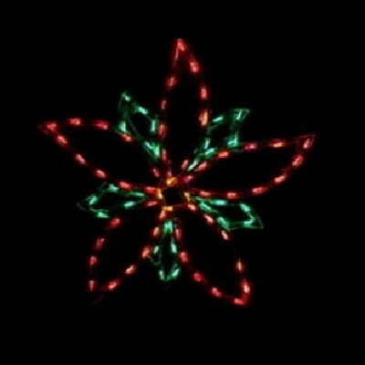 Poinsettia LED Lighted Outdoor Floral Decoration