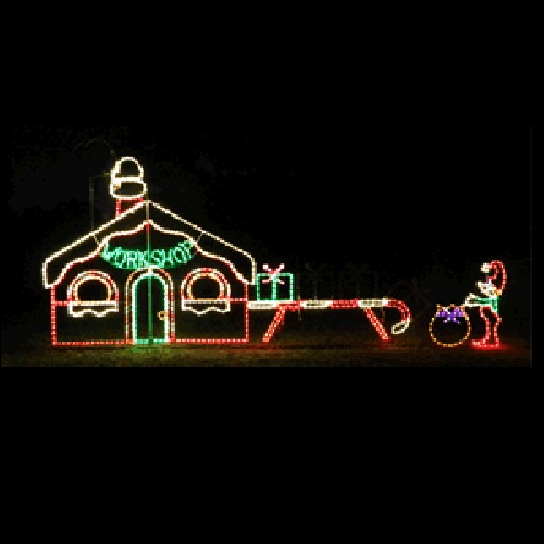 for a larger view of this item - Lighted Christmas Lawn Decorations