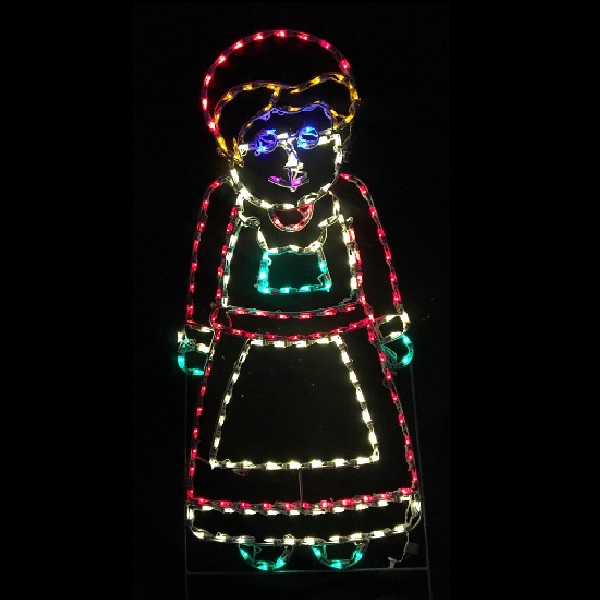 Mrs. Claus LED Lighted Outdoor Christmas Decoration