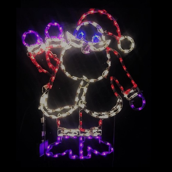 Santa Claus Waving Animated LED Lighted Outdoor Lawn Decoration