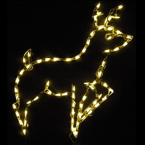 reindeer led lighted christmas outdoor yard decoration - Lighted Animals Christmas Decoration