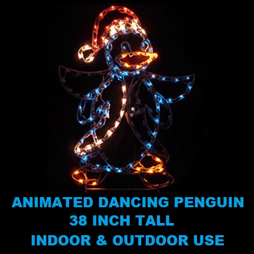 Penguin Dancing Animated LED Lighted Outdoor Lawn Decoration