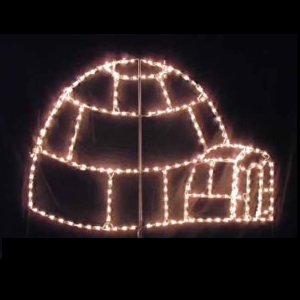 igloo led lighted outdoor christmas decoration - Led Outdoor Christmas Decorations