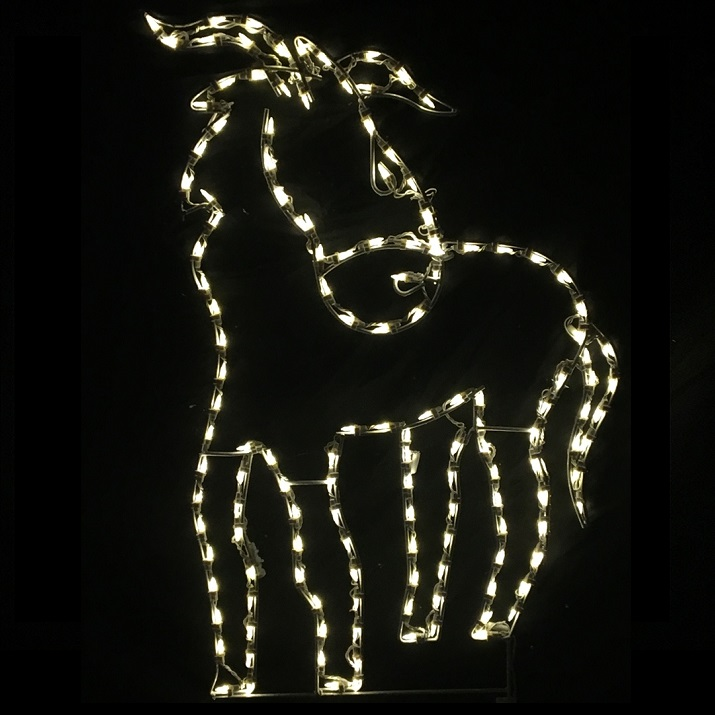 Donkey Standing LED Lighted Outdoor Lawn Decoration