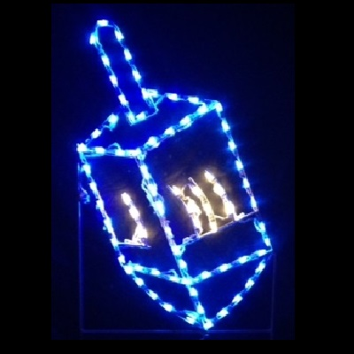 Dreidel LED Lighted Outdoor Hanukkah Decoration