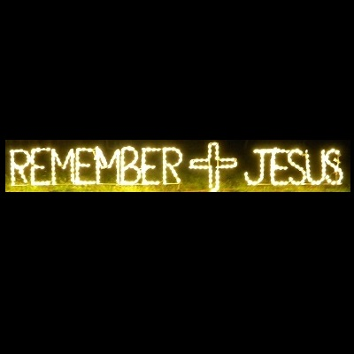 Remember Jesus with Cross LED Lighted Outdoor Easter Decoration