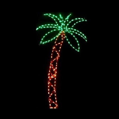 Palm Tree Tall LED Lighted Outdoor Lawn Decoration