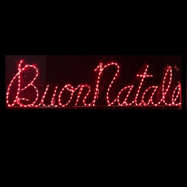 Buon Natale LED Lighted Outdoor Christmas Sign Decoration