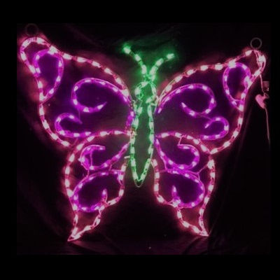 Butterfly - Hanging LED Lighted Outdoor Christmas Decoration