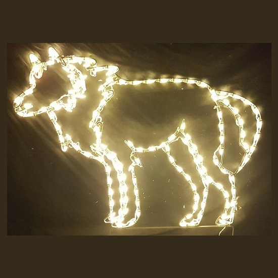Wolf LED Lighted Outdoor Christmas Decoration