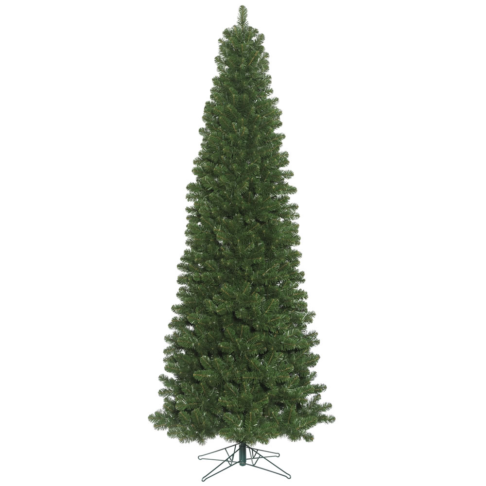 9.5 Foot Oregon Fir Slim Artificial Christmas Tree Unlit