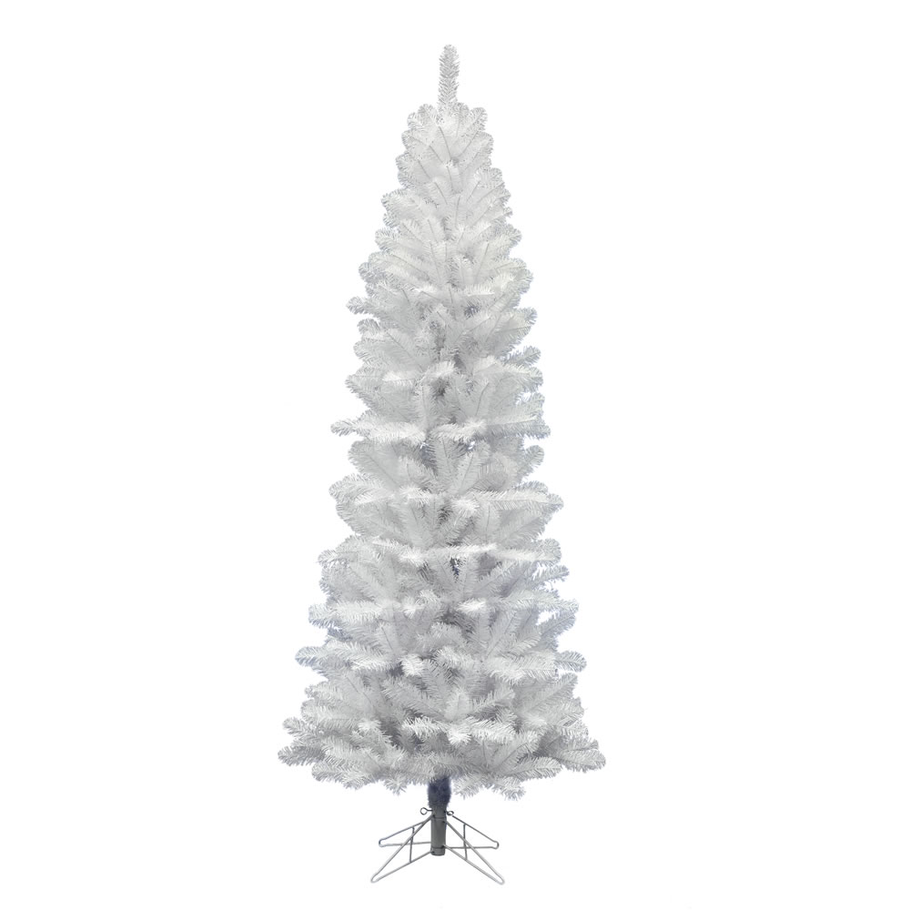 5.5 Foot White Salem Pencil Pine Artificial Christmas Tree Unlit