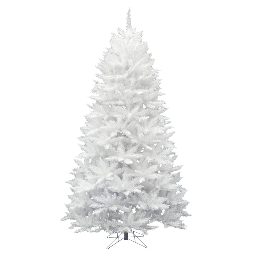 8.5 Foot Sparkle White Spruce Artificial Christmas Tree Unlit