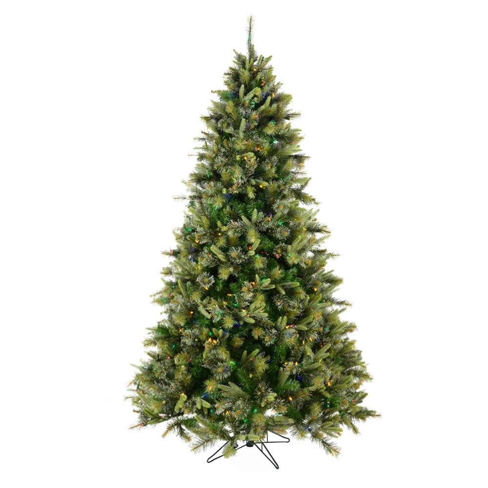 6.5 Foot Cashmere Pine Artificial Christmas Tree 500 DuraLit LED M5 Italian Multi Color Mini Lights