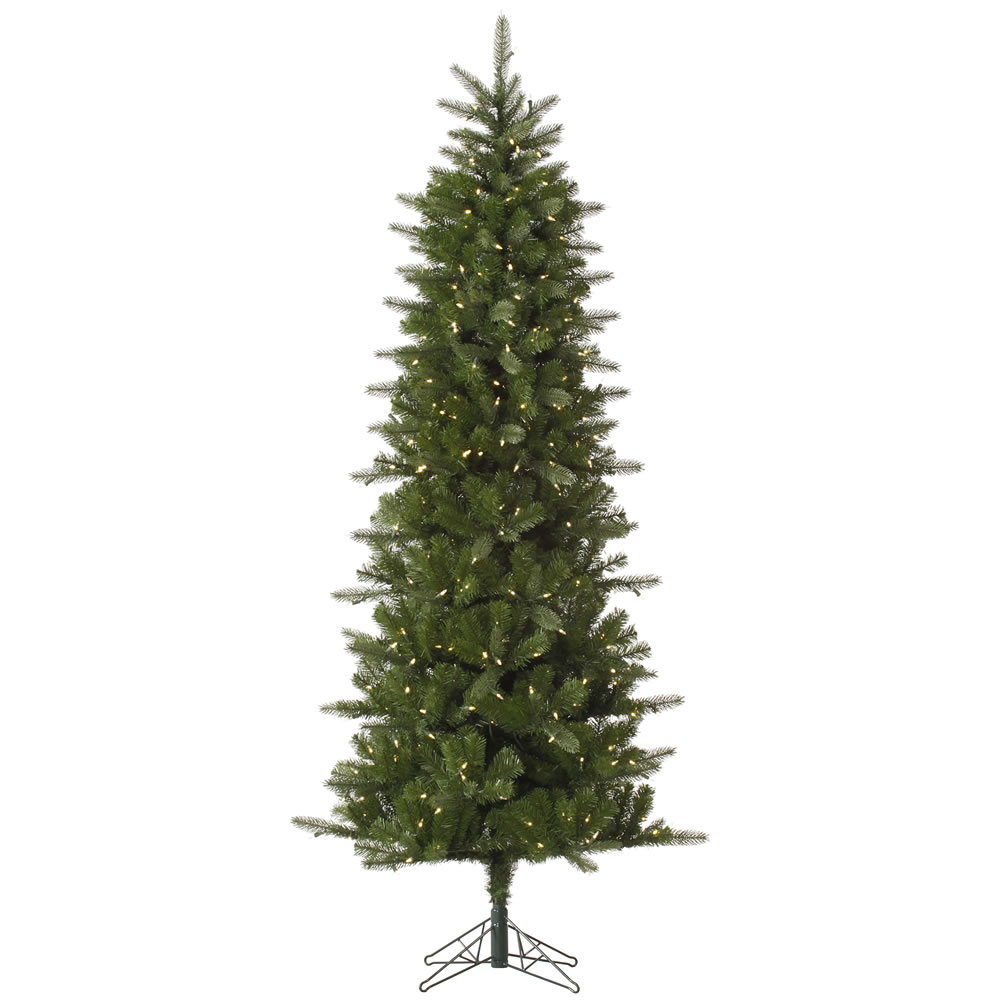 5.5 Foot Carolina Pencil Spruce Artificial Christmas Tree 250 DuraLit LED M5 Italian Warm White Mini Lights