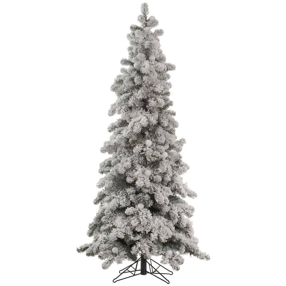 7 Foot Flocked Kodiak Spruce Artificial Christmas Tree Unlit