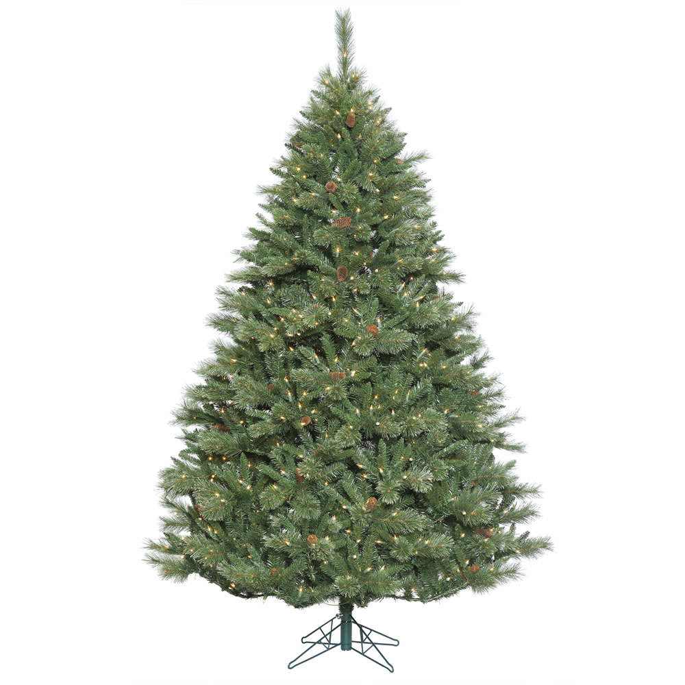 7.5 Foot Davenport Mixed Pine Artificial Christmas Tree 750 DuraLit Incandescent Clear Mini Lights