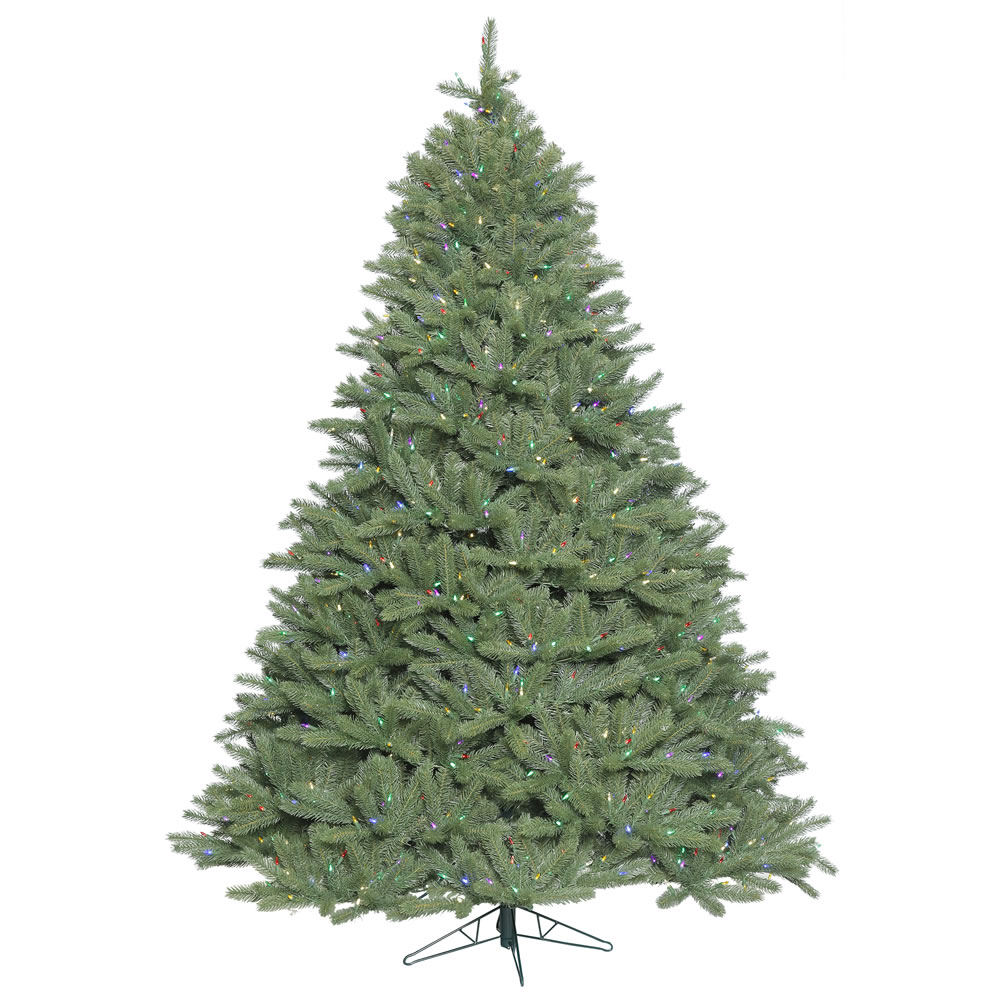 5.5 Foot Colorado Spruce Wide Body Artificial Christmas Tree 550 DuraLit Incandescent Multi Color Mini Lights