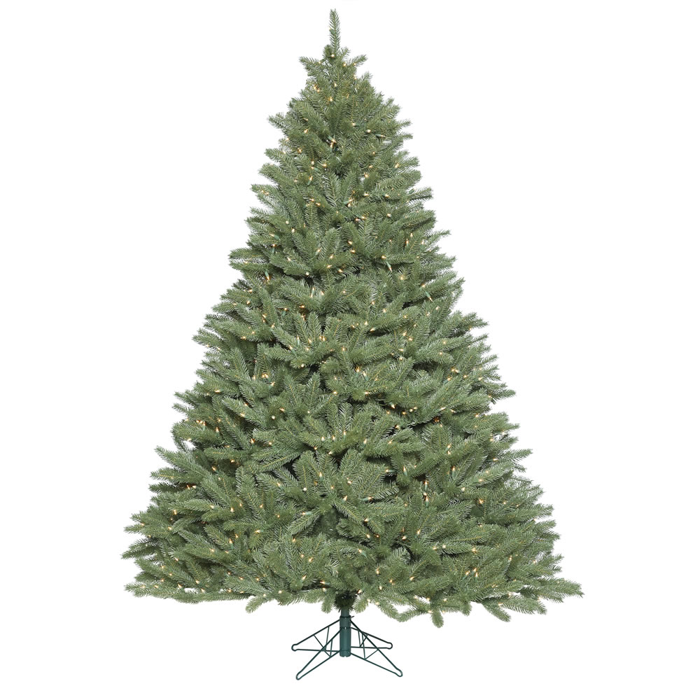 6.5 Foot Colorado Spruce Wide Body Artificial Christmas Tree 850 DuraLit LED M5 Italian Warm White Mini Lights