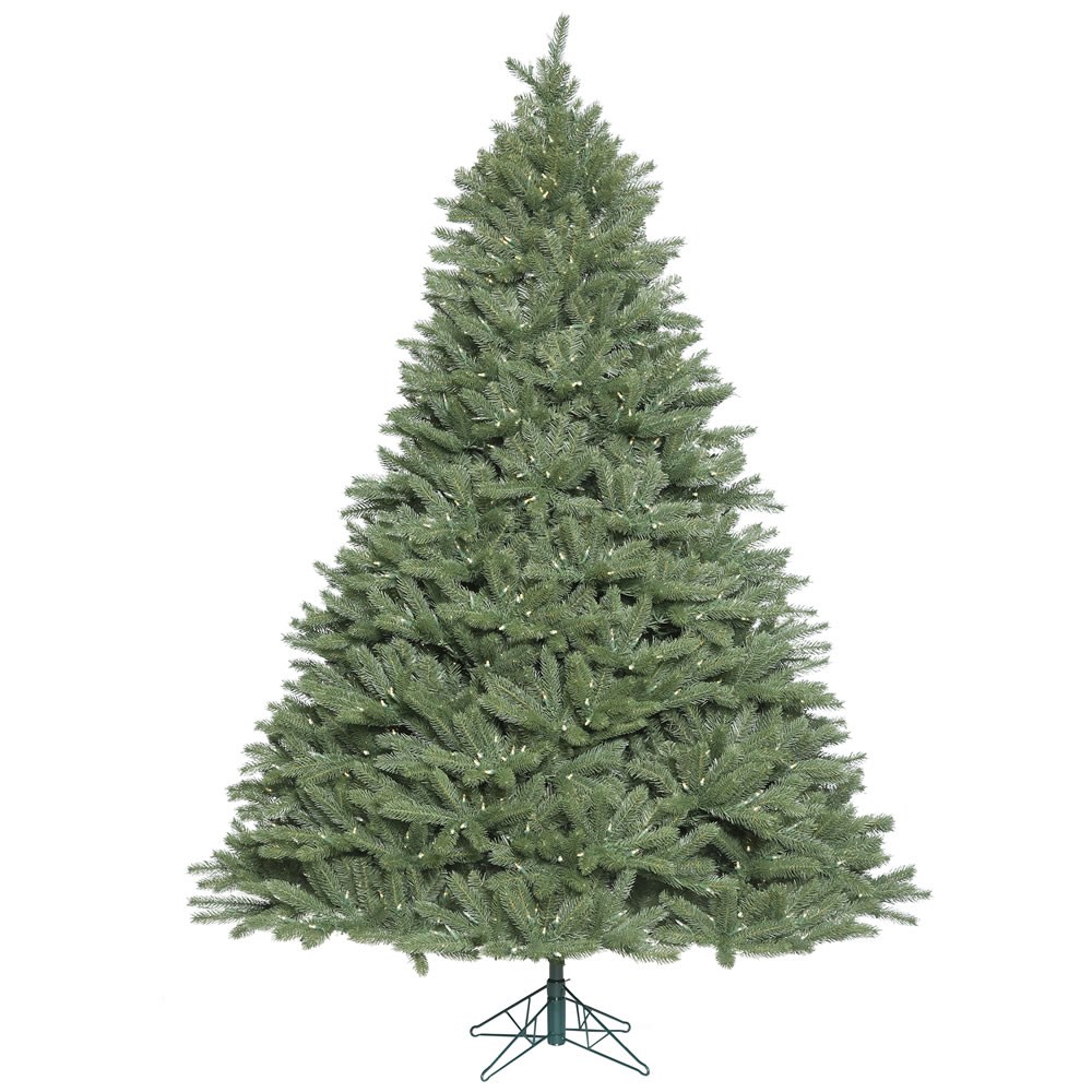 6.5 Foot Colorado Spruce Wide Body Artificial Christmas Tree 850 LED M5 Italian Warm White Mini Lights