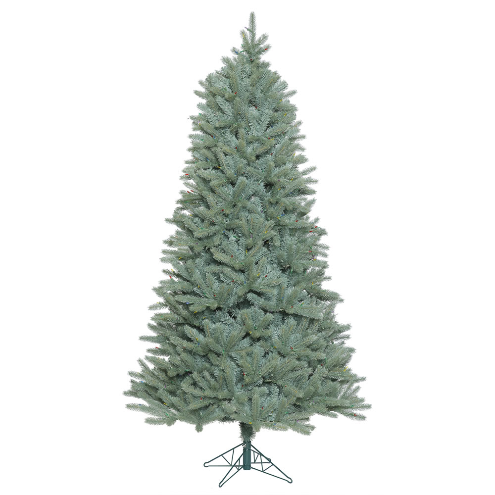 7.5 Foot Colorado Blue Spruce Slim Artificial Christmas Tree Unlit