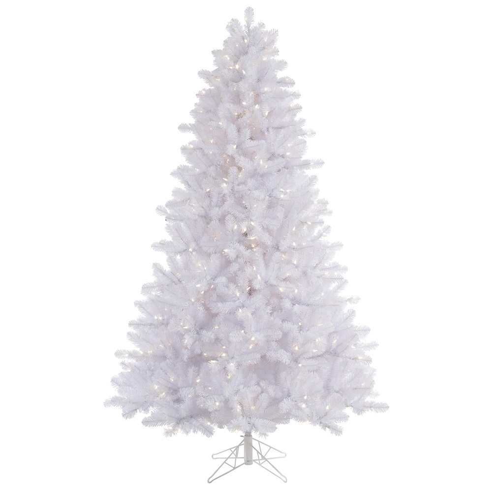 9 Foot Crystal White Pine EZ Plug Artificial Christmas Tree 1100 DuraLit LED Color Changing Lights