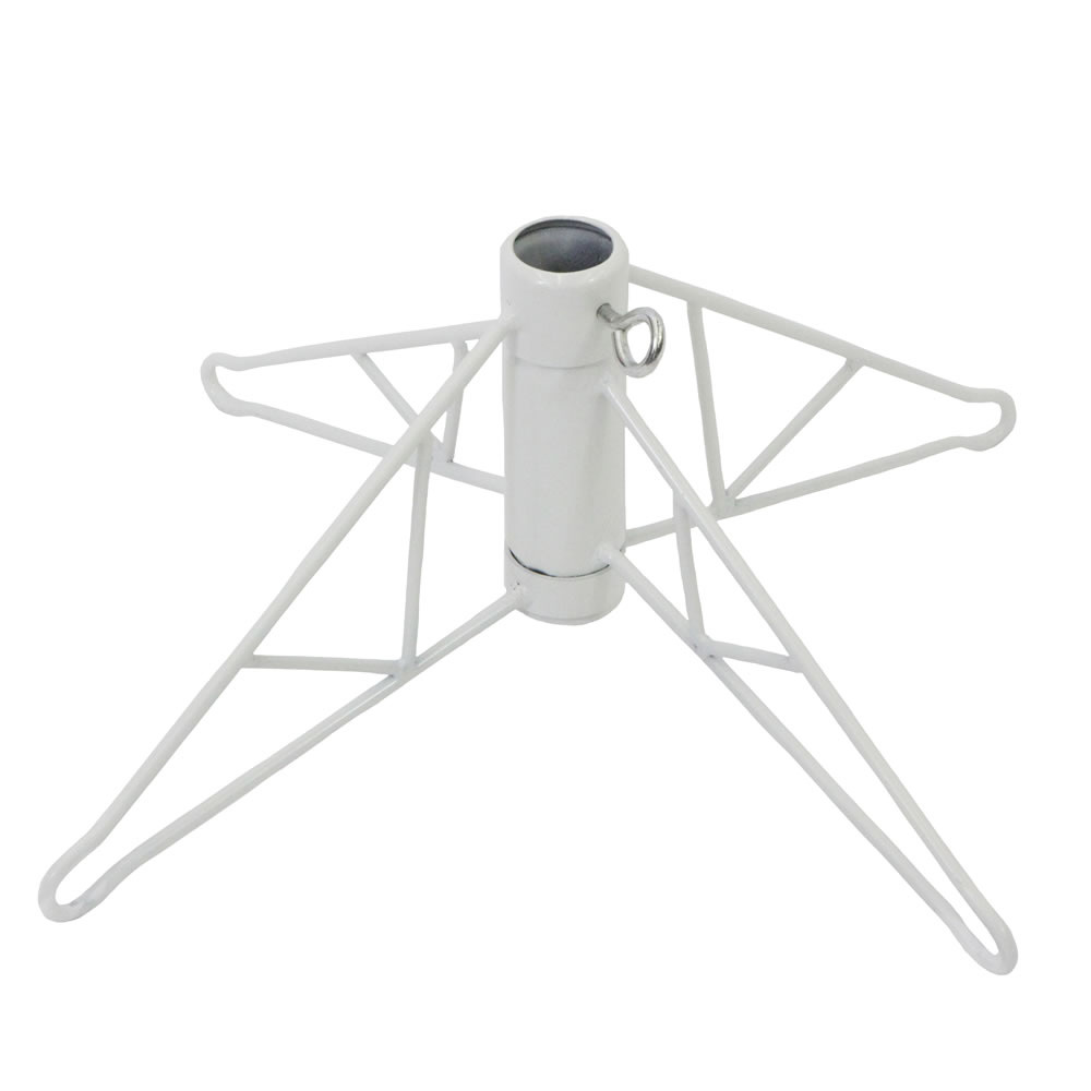 21 Inch White Folding Metal Artificial Christmas Tree Stand 6.5 to 7.5 Foot Trees
