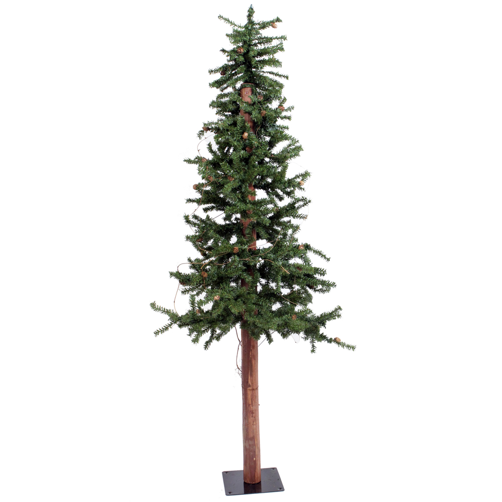 2 Foot Alpine Artificial Table Top Tree 50 DuraLit Incandescent Clear Mini Lights