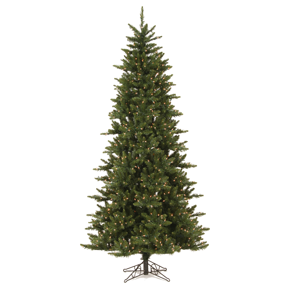 7.5 Foot Camdon Fir Slim Artificial Christmas Tree 700 DuraLit Incandescent Clear Mini Lights