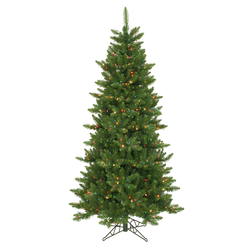 8.5 Foot Camdon Fir Artificial Christmas Tree 700 DuraLit LED M5 Italian Multi Color Mini Lights