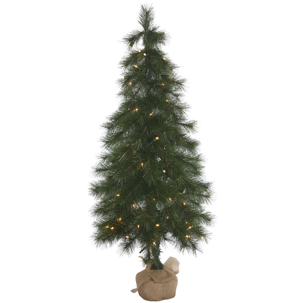 4 Foot Crestone Spruce Artificial Christmas Tree 100 DuraLit Incandescent Clear Mini Lights