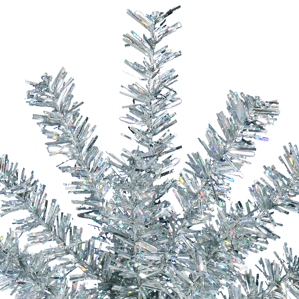 Silver Mini Colorful Pine Decorative Artificial Christmas Spray