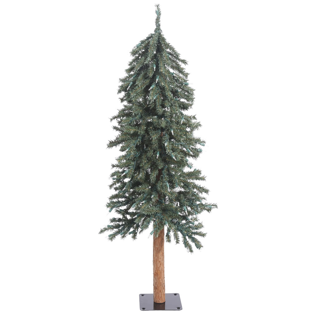 4 Foot Natural Bark Alpine Artificial Christmas Tree Unlit