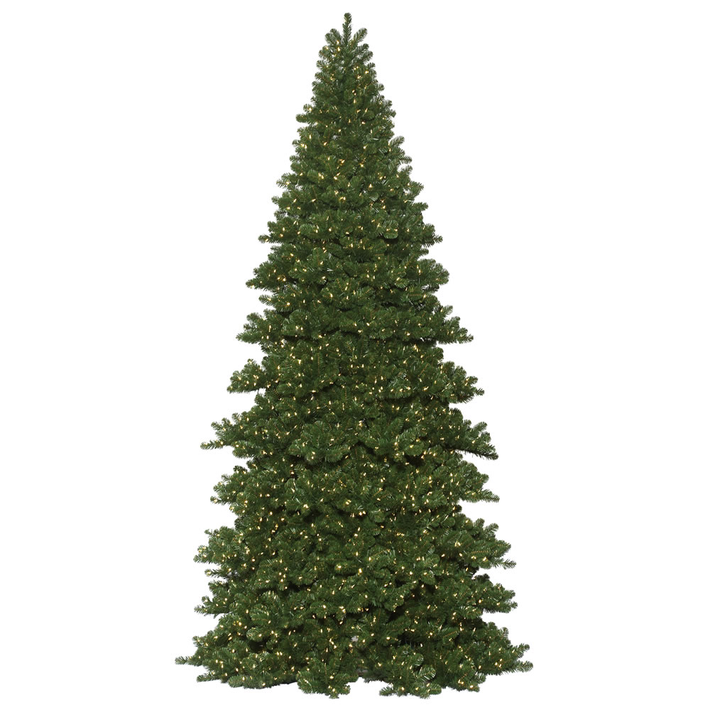 20 Foot Oregon Fir Artificial Commercial Christmas Tree 12000 DuraLit LED M5 Italian Warm White Mini Lights