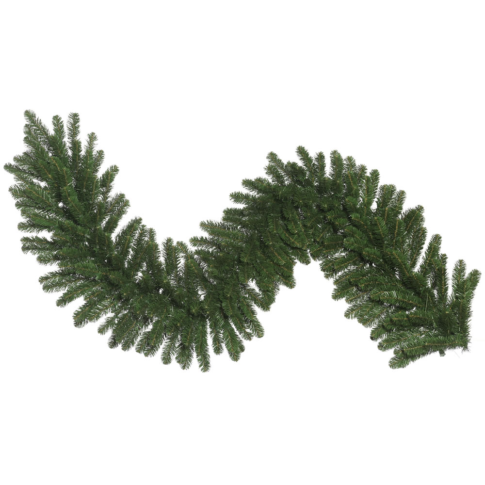 9 Foot Oregon Fir Wide Artificial Christmas Garland Unlit