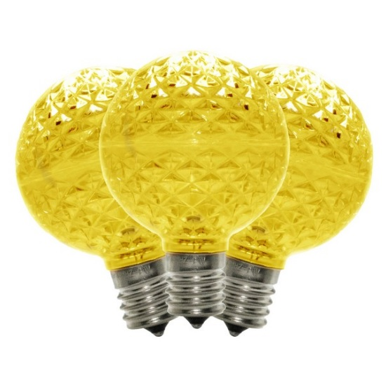 10 G50 LED Gold Retrofit C9 Base Replacement Bulbs