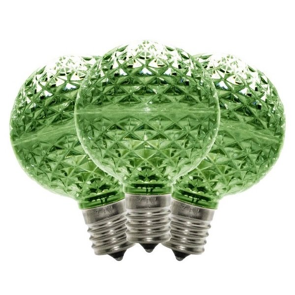 10 G50 LED Green Retrofit C9 Base Replacement Bulbs