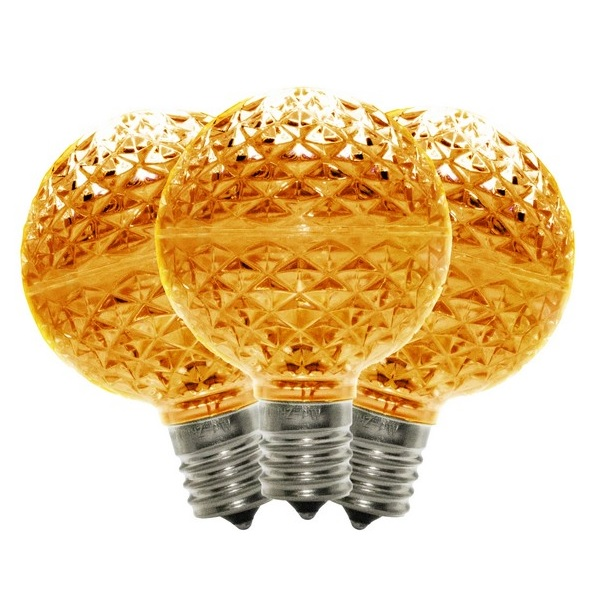 10 G50 LED Orange Retrofit C9 Base Replacement Bulbs