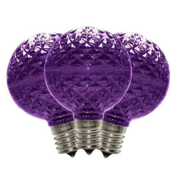 10 G50 LED Purple Retrofit C9 Base Replacement Bulbs
